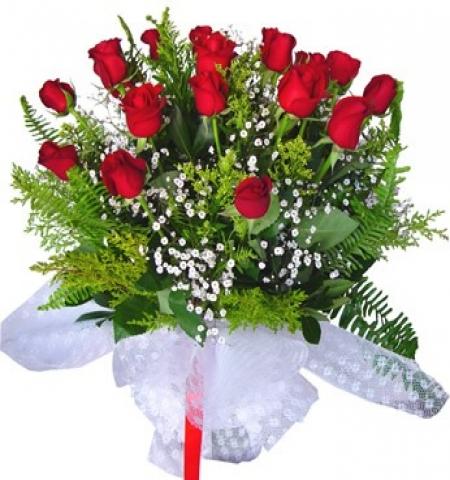 Erzurum Çiçek 15 AD KIRMIZI GÜL BUKETİ